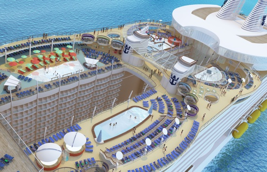 A rendering of the Oasis Sports Deck