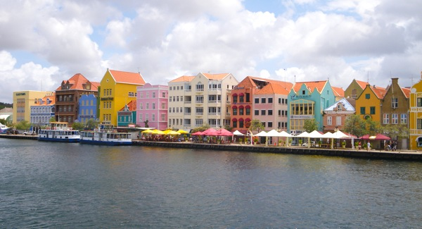Willemstad, Curacao buildings bask in the March 15, 2009 sun.