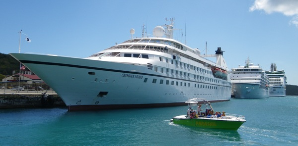 Seabourn Legend docked in St. Thomas, U.S. Virgin Islands, Saturday March 28, 2009.