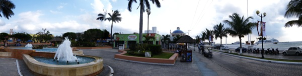 A panorama of the port of Cozumel Mexico. Taken on April 21, 2009.