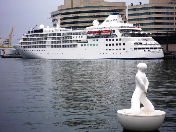 The newly-refurbished Silver Wind, docked in Barcelona, Spain, Thursday, May 14, 2009.