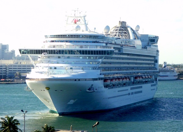 Emerald Princess will be operating a series of Caribbean itineraries from Fort Lauderdale in the summer of 2010. Image courtesy Michael Coleman