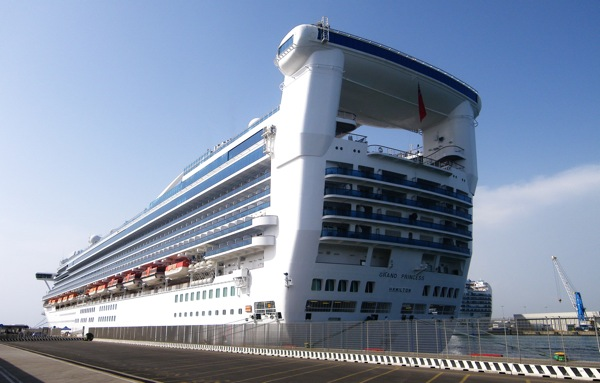 Grand Princess, having just completed a multi-million dollar makeover, docked in Civitavecchia (Rome) Italy, Sunday May 17, 2009.