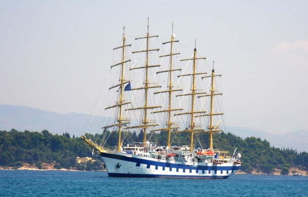 And she sailed into Corfu, Greece on Monday, Aug. 3, 2009.