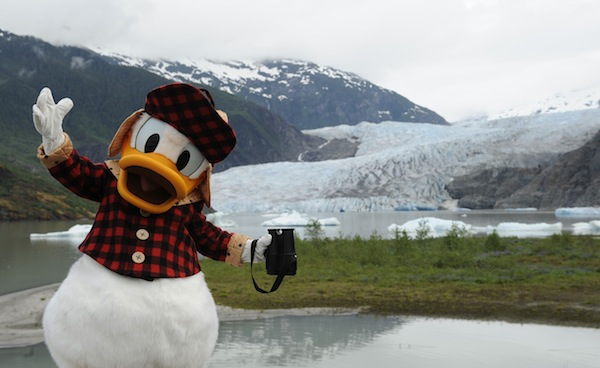Video: Donald Duck scouts Alaska for Disney Cruise Line's first visit