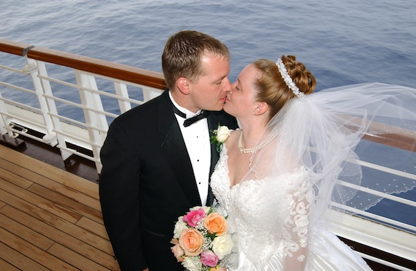 Weddings at sea and a host of romance packages are being offered by many of the world's leading cruise lines. Image courtesy of Princess Cruises