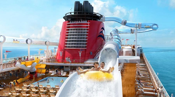 Over-the-edge water coaster, virtual portholes and more announced for Disney Dream