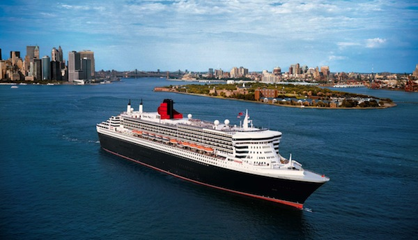 The Queen Mary 2, as part of its onboard enrichment programming, will host acclaimed filmmakers Griffin Dunne and Gary Winick on an upcoming voyage.  Image courtesy Cunard