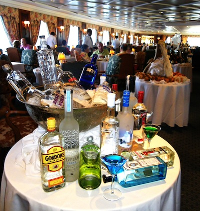 The Grand Dining Room aboard Oceania Regatta was the scene today for Sunday Brunch. The ship's largest dining venue plus Polo Grill, Toscana, and Tapas on the Terrace, are under the culinary direction of famed French chef Jacques Pepin. Photo by Michael Coleman