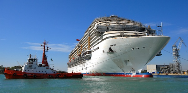 The Magic of Carnival cruise ship construction