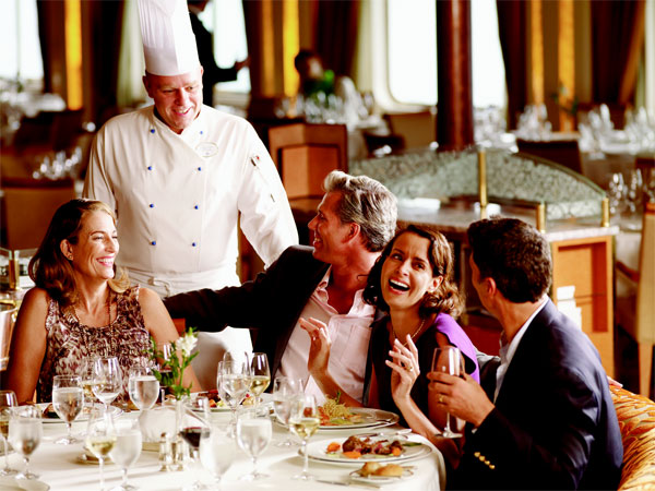 Menu set for Silversea's culinary arts voyages