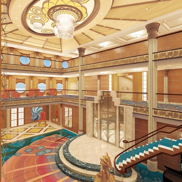 Disney Magic's Atrium Photo courtesy of Disney Cruise Line