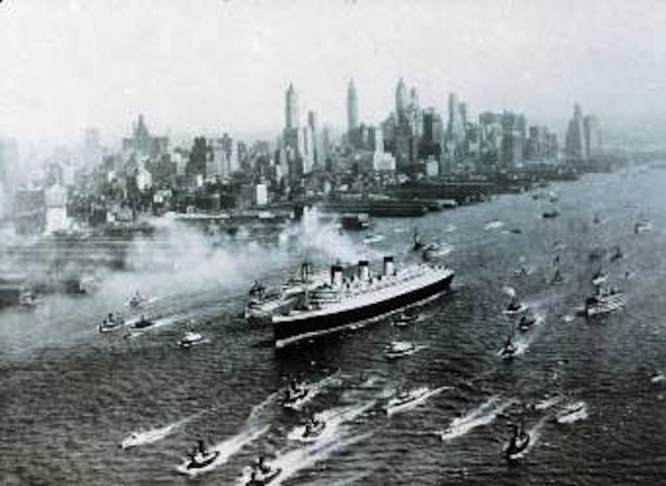 Queen Mary in New York in 1936 Photo courtesy of Cunard