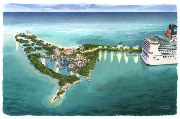 Artist representation of the proposed destination. Provided by Norwegian Cruise Line